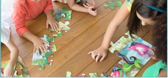 Jogando com as crianças